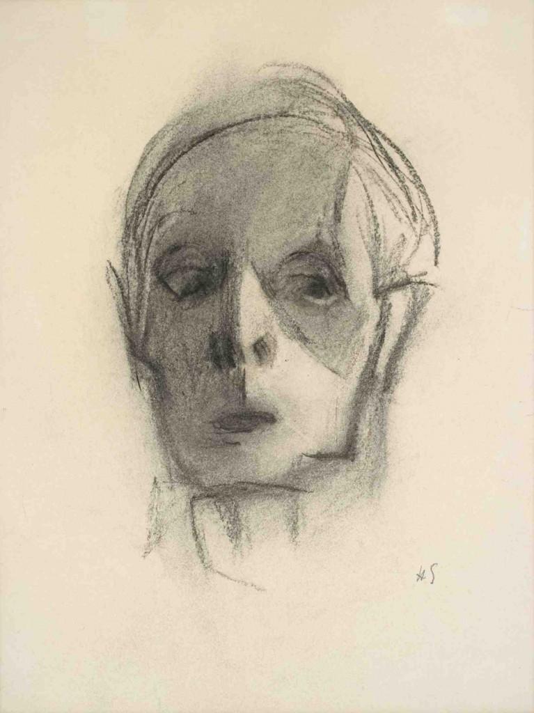"Helene Schjerfbeck, ""Självporträtt"", Saltsjöbaden, 1944-45. Foto: Didrichsen Art Museum/Ordrupgaard"