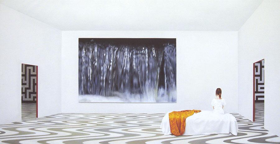 """Sitting Falling"", Anette Harboe Flensburg. Foto: Galerie Leger"