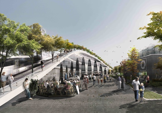 Loop City, The Green Waterfront, vid Albertslund Hersted Industripark. Bild: BIG - Bjarke Ingels Group