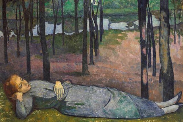 "Émile Bernard, ""Madeleine i kärleksskogen"", 1888. Foto: EPMO (Orsay)"
