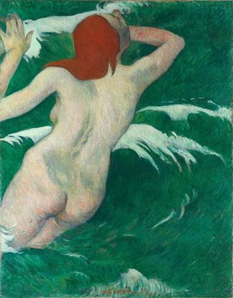 "Paul Gauguin, ""I vågorna"", 1889. Foto: Gary Kirchenbauer"
