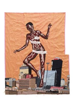 "Billie Zangewa, ""The Rebirth of the Black Venus"", 2010. Bild: Lunds konsthall"