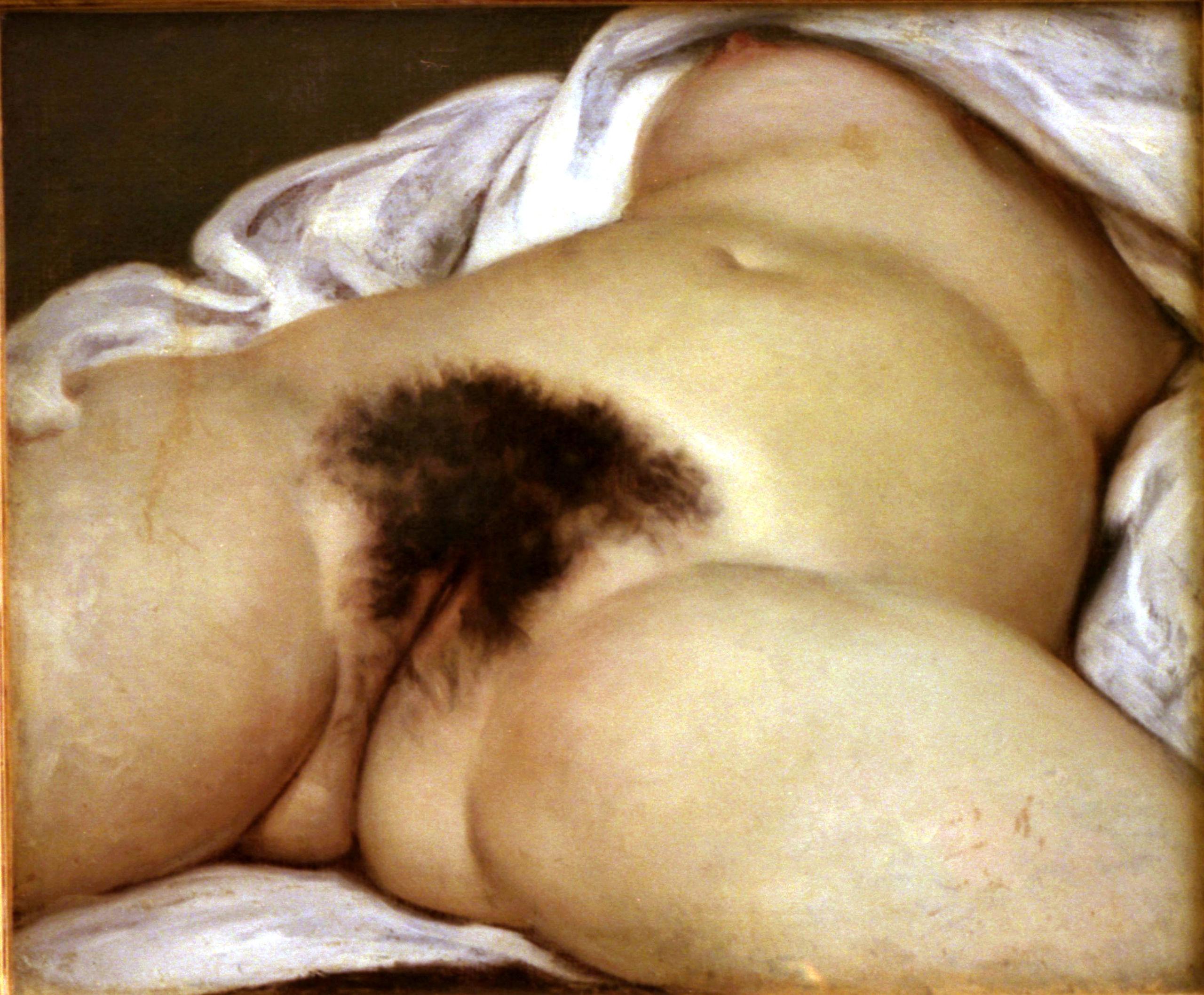 """Den franske konstnären Gustave Courbets """"L'origine du monde"""" (""""Världens ursprung"""") från 1886."""